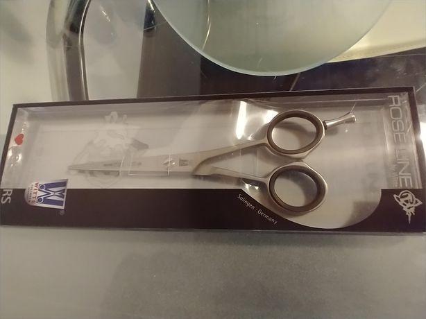 Nowe nożyczki fryzjerskie rose line by white
