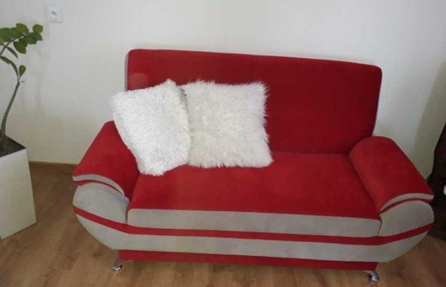 DESIGNERSKIE meble welurowe 2 fotele + sofa