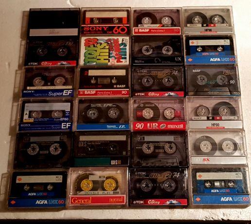 Kolekcja kaset magnetofonowych z nagraniami 24szt