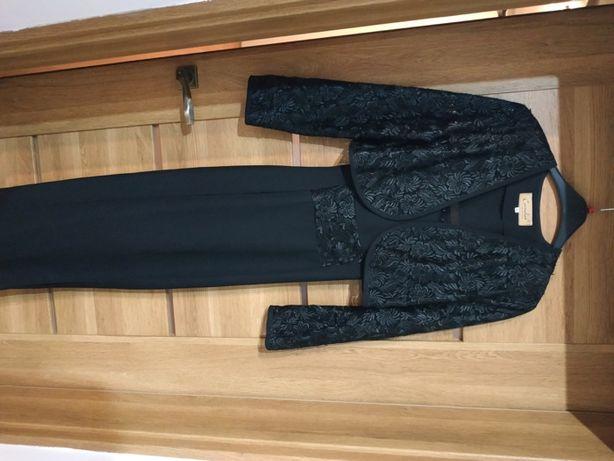 Imprezowa suknia z bolerkiem (Idealna na bal/Sylwester, 40; M)