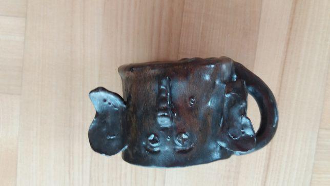 Kubek z mosiądzu ręcznie robiony