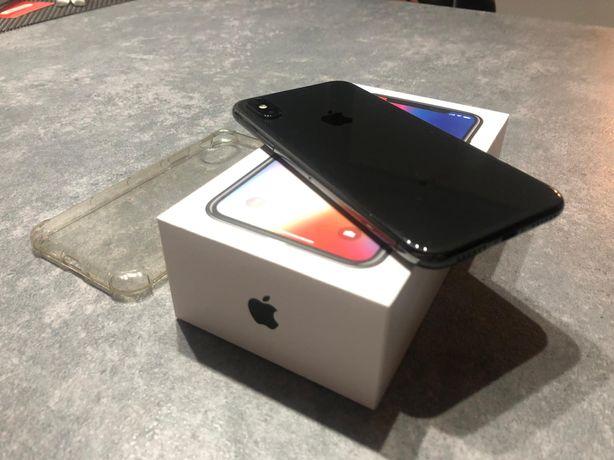 Iphone x,apple,oryginalna ladowarka,sluchawki,Oryginalne etui,jak nowy