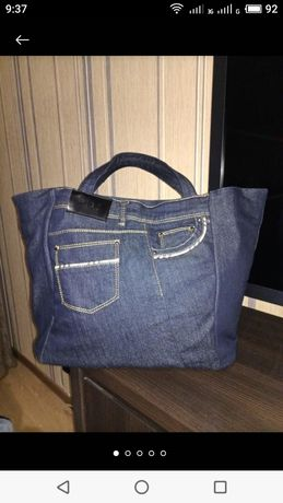 Джинсовая дизайнерская сумка оригинал