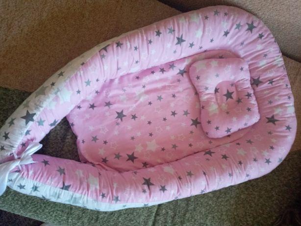 Кокон з подушечкою для немовлят + одяг в подарунок