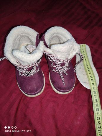 Ботиночки,ботинки  с мехом утеплённые , H&M 23 р