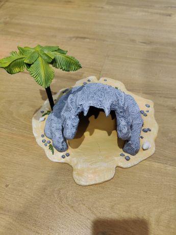 Wyspa Jaskinia Piratów z Palmą do zabawy modelarstwa plastikowa makiet