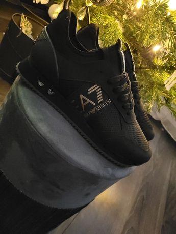 Nowe czarne buty Emporio Armani EA7