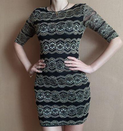 Платье мини с открытой спиной