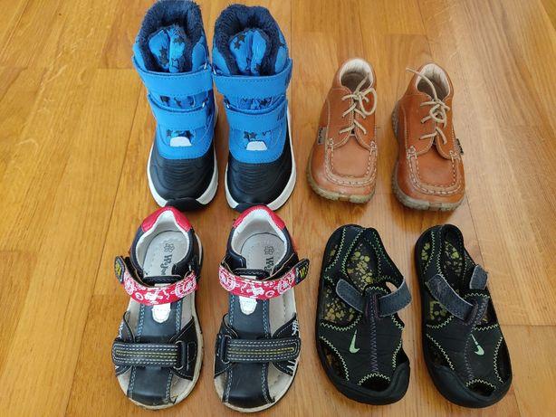 Buciki 22 chłopiec Lupilu Bartuś Nike Wojtyłko sandałki trzewiki