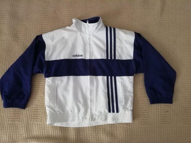 Bluza dresowa dziecięca rozpinana Adidas 3 stripes 128 cm
