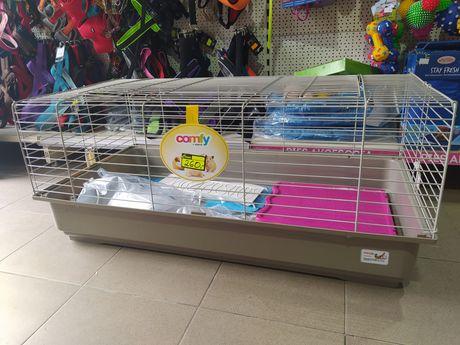 Comfy klatka dla królika, świnki morskiej z wyposażeniem. Małe Zoo