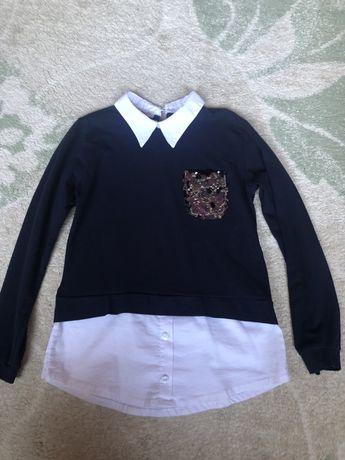 Рубашка - обманка 9-10 лет