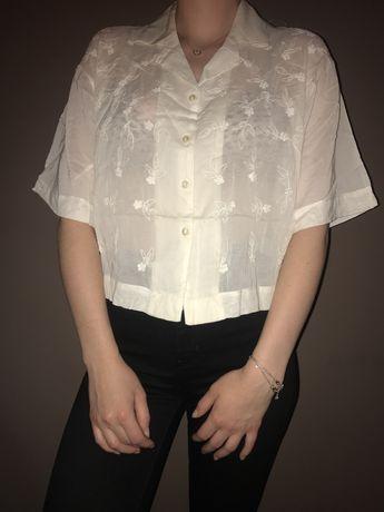 Nowa muślinowa koszula mgiełka z haftowaniem Solar