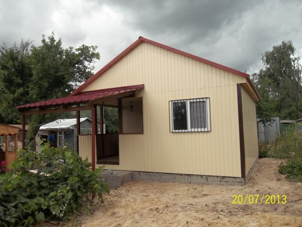 Каркасные деревянные дачные дома