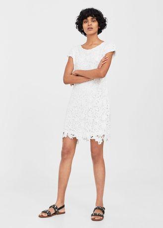 Біла мереживна сукня Mango S.