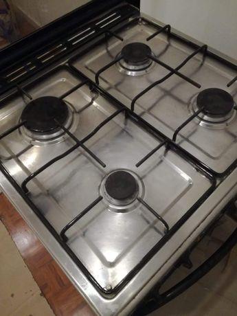 Fogão a gás natural com forno com grill elétrico