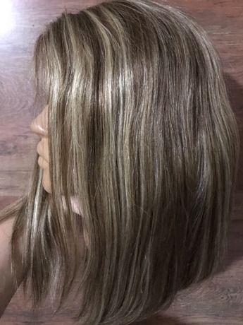 Новый натуральный 100% парик Реми русый детские славянские волосы +под