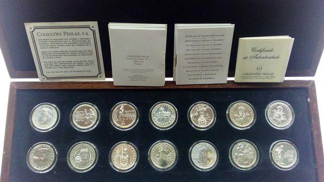 """Coleção Philae """"O ECU Europeu em prata"""" de 14 moedas"""