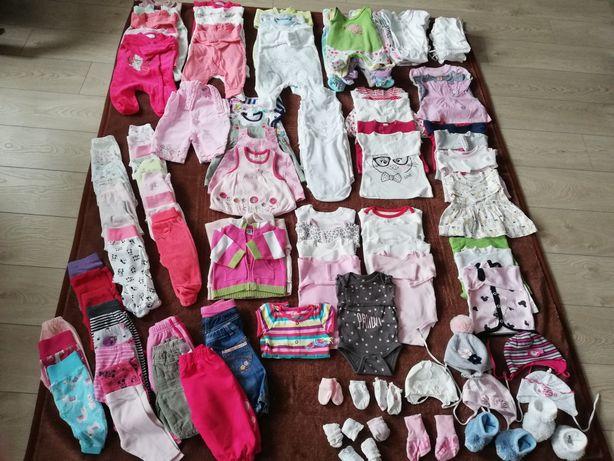 Zestaw ubrań dla dziewczynki w rozmiarze 56-68 (mega paka)