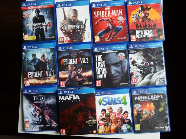 GRY PS4 PS5 MAFIA TRYLOGIA GHOST Last 2 RDR 2 Wiedźmin 3 Resident Evil