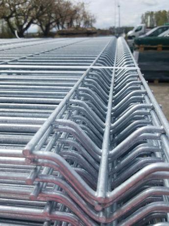 Panele ogrodzeniowy h 1230 fi 4 75x200 ocynk