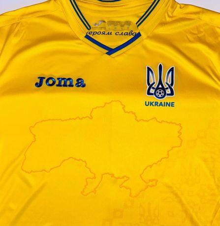 Нашумевшая футболка сборной Украины для ЕВРО Joma желтая