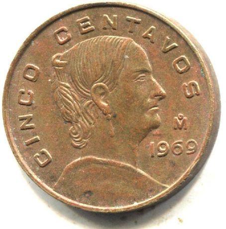 Mexico 1969 - Mexican Cinco Centavos Coin