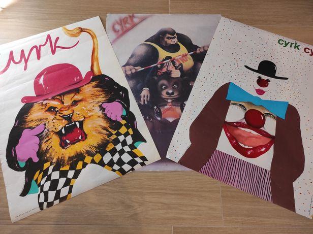 Plakaty cyrkowe, 3 sztuki zestaw! Rok '85 i '87.