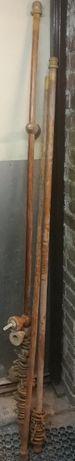 3 karnisze drewniane