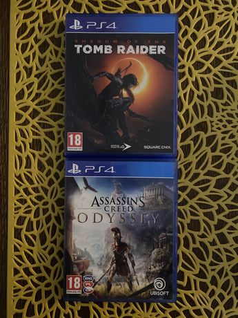 PlayStation Ps 4 Shadow Of The Tomb Raider, Assassins Creed Odyssey!