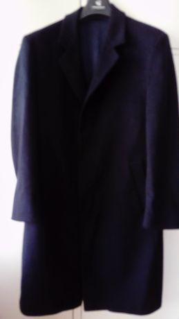 Granatowy norweski męski płaszcz