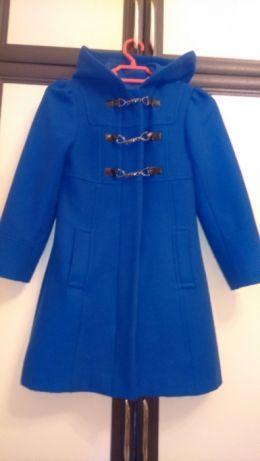 Продам синее пальто на девочку 6-10 лет