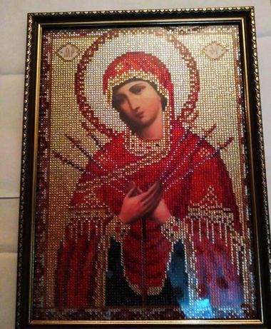 Алмазная вышивка, алмазная мозаика, Семистрельная икона, картина.