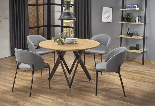 MOZAMBIK – stół okrągły stół loftowy stół industrialny DOWÓZ GRATIS