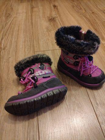 Buty ocieplane kozaki dziewczynka rozmiar 24