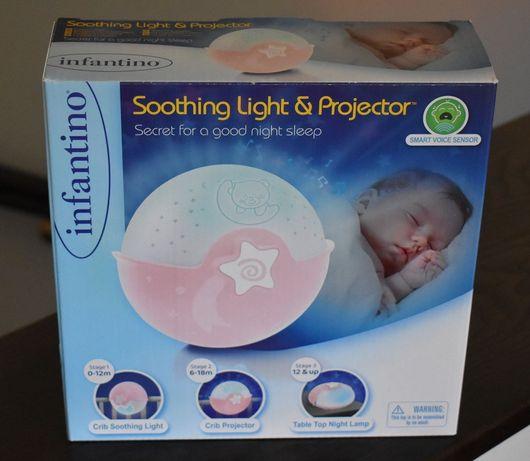 Lampa, projektor 3w1 dla dzieci Inantino kolor różowy NOWY!