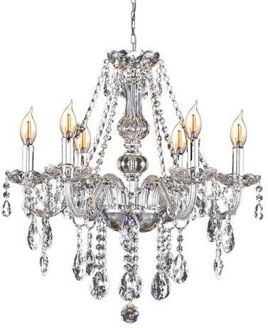 Lampa sufitowa żyrandol kryształowy wiszący