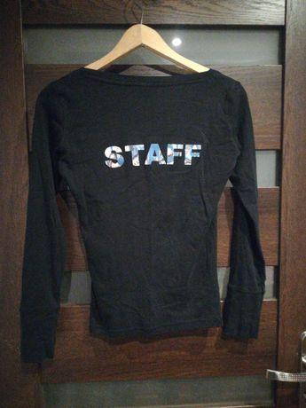 Czarna bluzka terranowa, napis r. M
