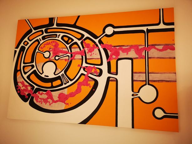 Quadro pintado à mão 160cm x 100cm