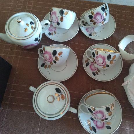Чайный сервиз полонне СССР посуда  набор чашки