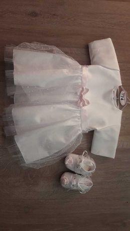Sukienka +buciki rozm.74
