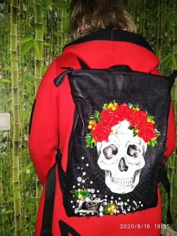 Сумка,рюкзак(кожа)