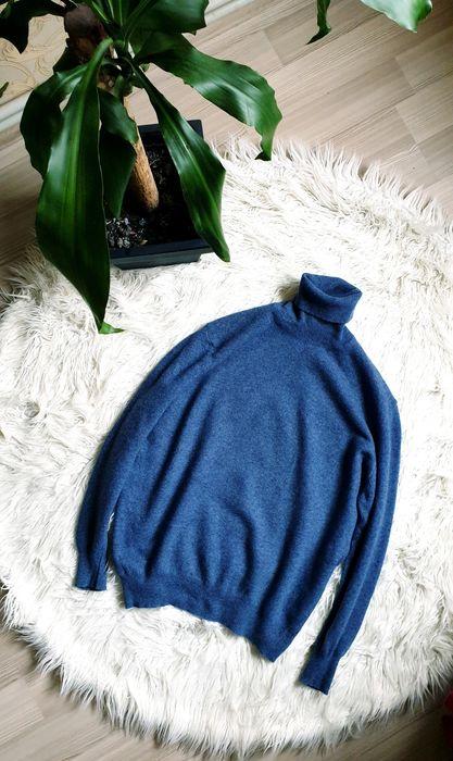 Мужская итальянская шерстяная водолазка синяя Днепр - изображение 1