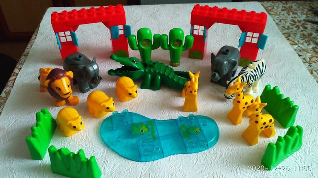 Конструктор jdtl зоопарк, аналог Лего дупло. 140 деталей