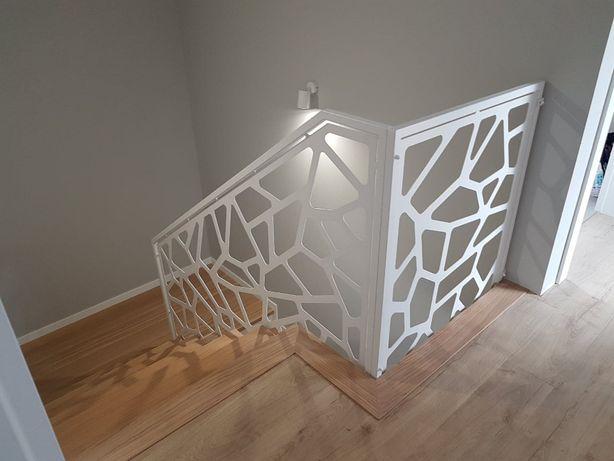 Balustrada wycinana , ażurowa, laserowa z blachy -nowoczesna design