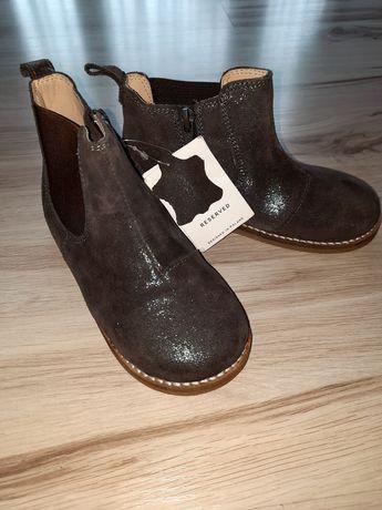 Botki buty skorzane reserved 28