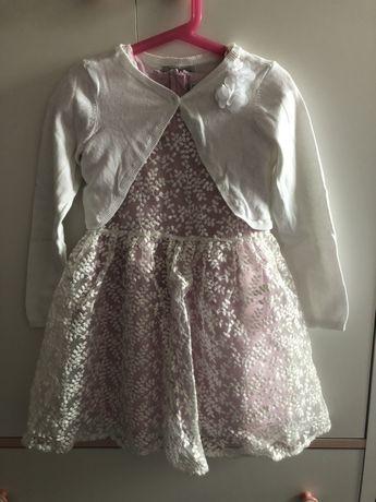 Komplet sukienka elegancka koronkowa, bolerko 122