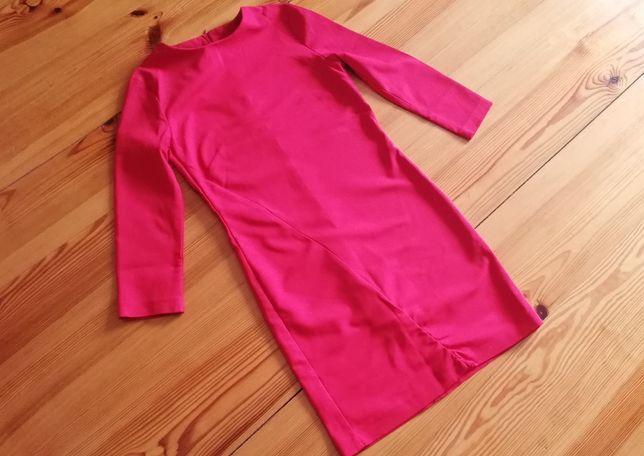 Czerwona elegancka sukienka XS S