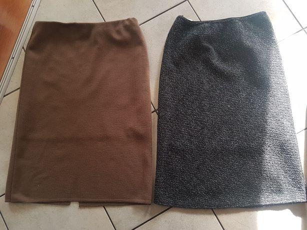 2 szt spódnice ciepła na podszewce 42/44