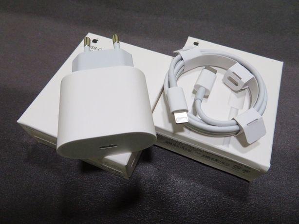 Kit Carregador Corrente 18W + Cabo Dados Lightning USB-C - Apple